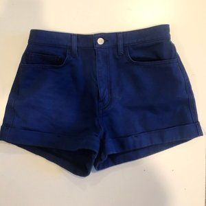 American apparel bright blue high waisted shorts